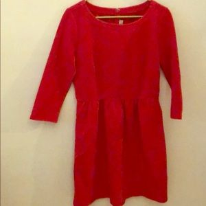 Loft red corduroy dress